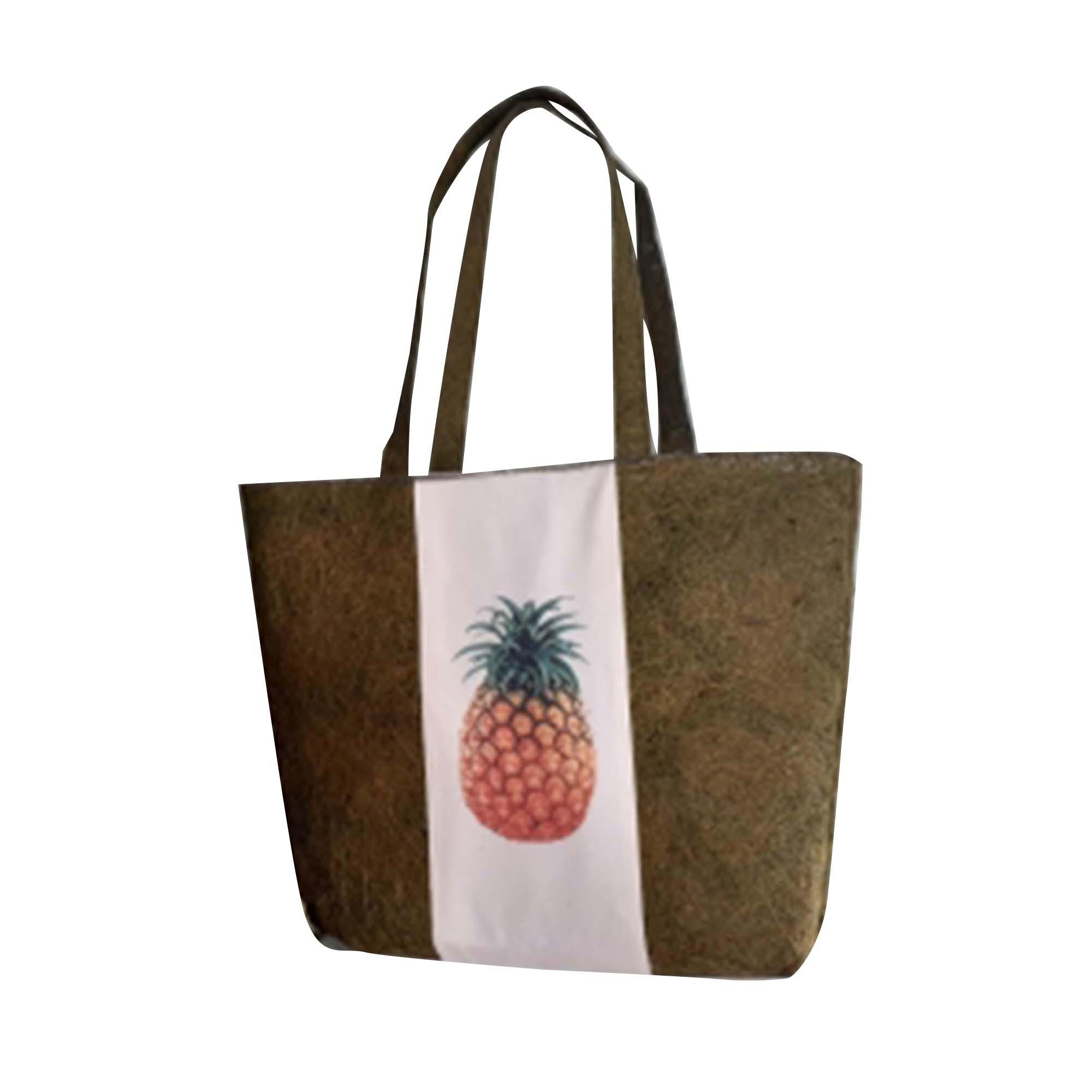 real straw tropical tote bag
