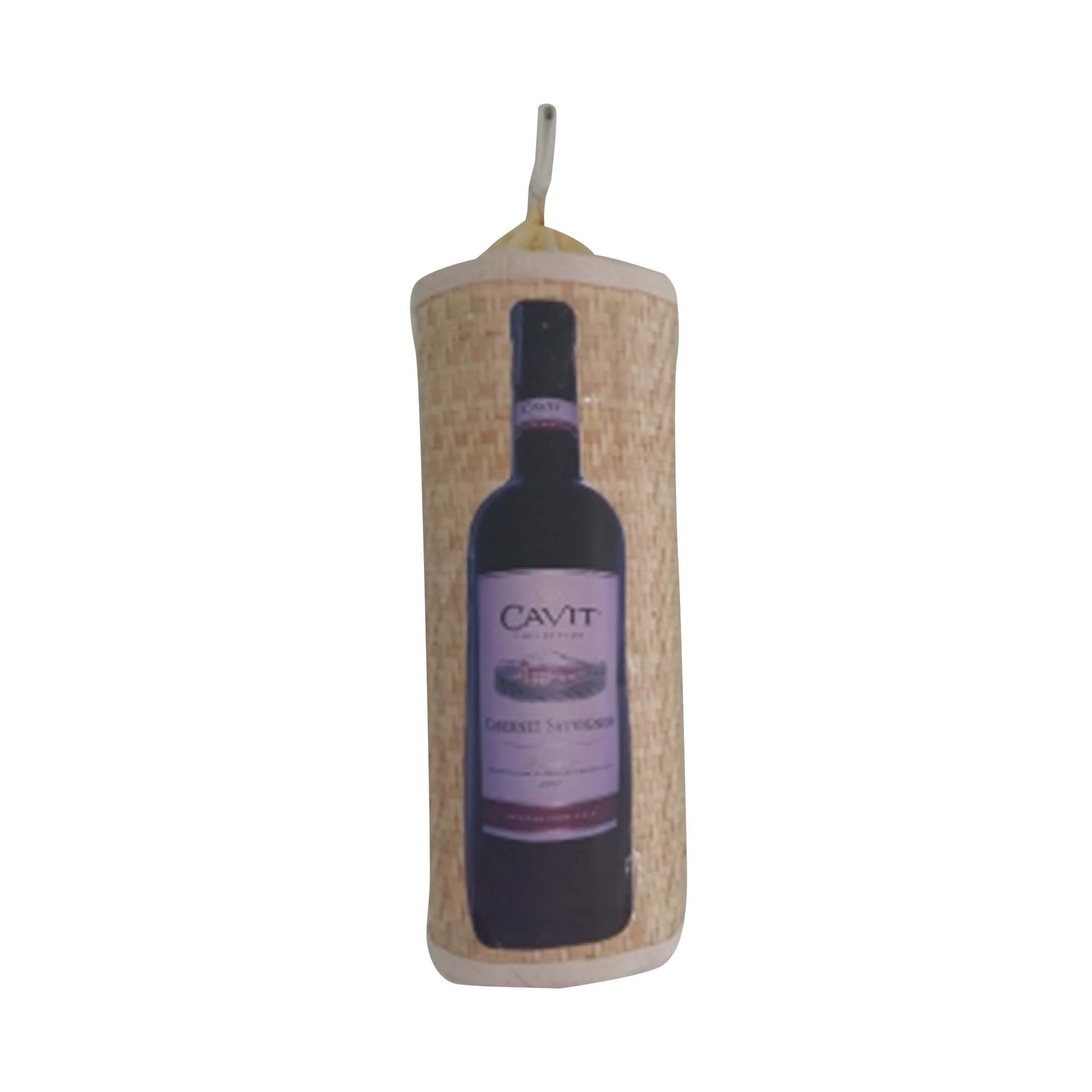 real straw tropical WINE bag